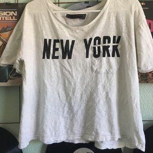 Tops - White New York shirt